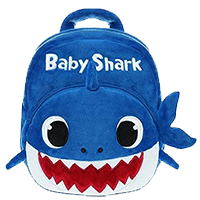 Cute Plush Baby Shark Themed Backpack for Kids