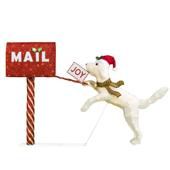 Winter Wonder Lane Light-Up Holiday Dog & Mailbox