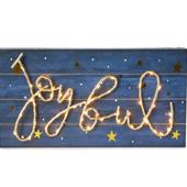 Winter Wonder Lane `Joyful` LED Hanging Wall Décor