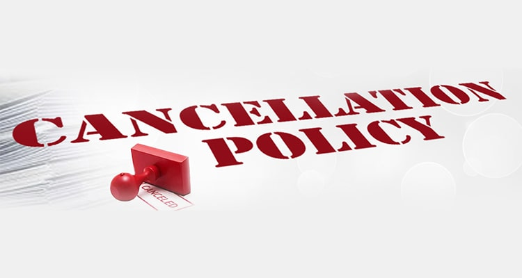 cancelation policy at turnkey