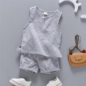 Shorts 2pcs Suit Children Set 2018 Clothing Kids BoboBebe Toddler