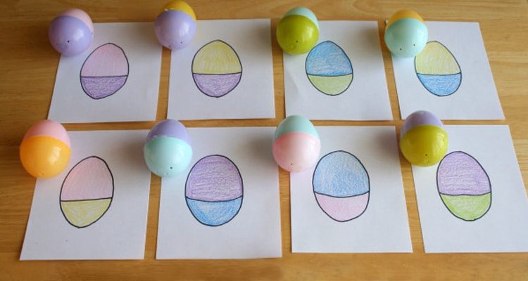 Easter egg hunt color matching game