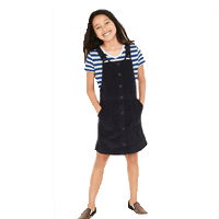 Corduroy Overall Uniform Jumper for Girls