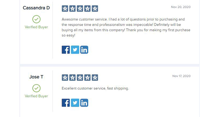 customer service review