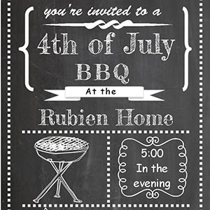 Printable 4th of July party invitation ideas