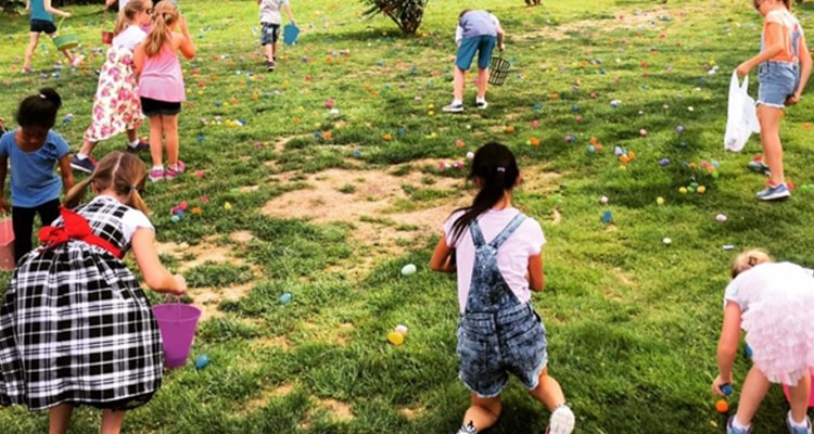 Easter egg relay race
