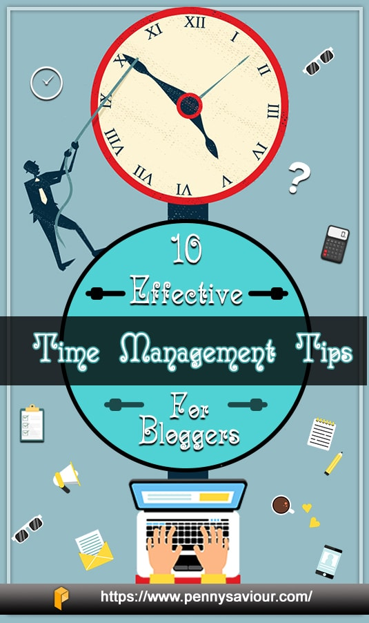 Effective Time Management Tips for Bloggers Pinterest Image