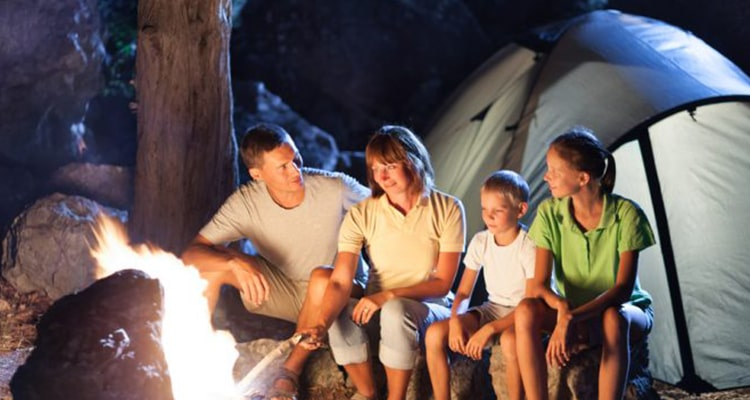 go for camping with family