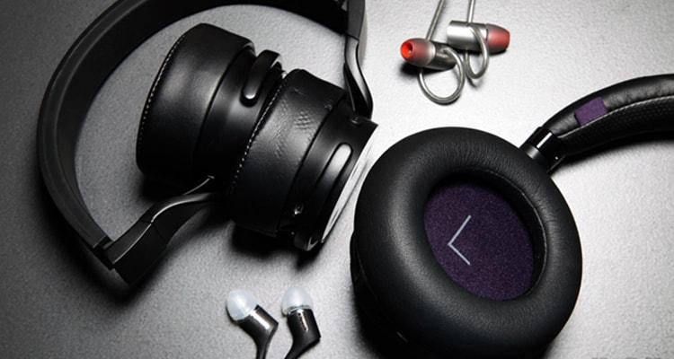 headphones and wireless speakers