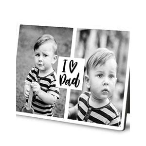 I heart dad Desktop photo plaques