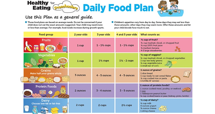 daily meal plan for kids