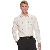 Men`s Haggar Regular-Fit Button-Down Shirt