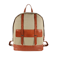 Leather laptop backpack Journey