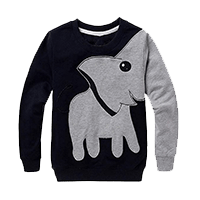 LitBud Little Boys Jumpers Kids Elephant Sweatshirt