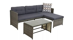 Longford 4pc Outdoor Patio Sectional Set