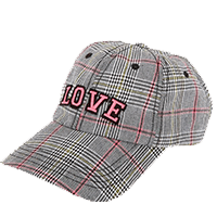 Love Plaid Baseball Cap