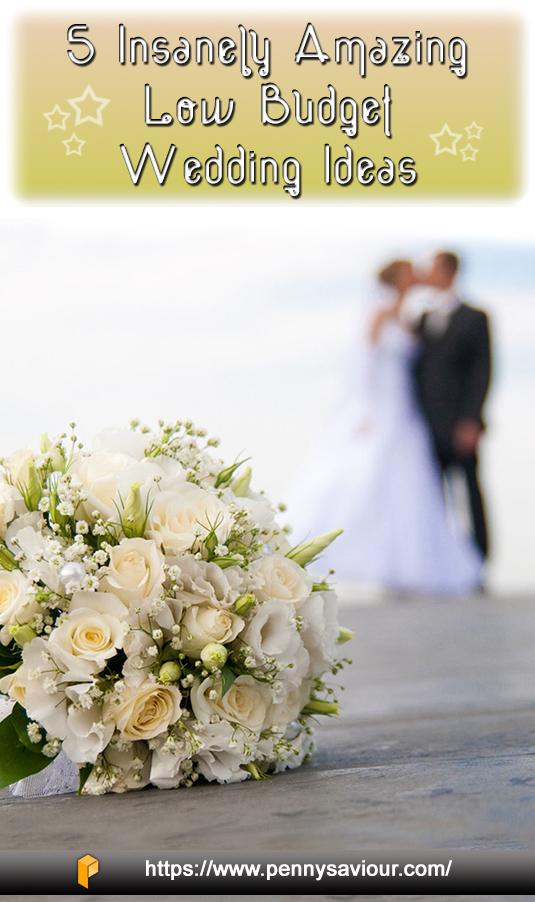 Low Budget Wedding Ideas Pinterest Image