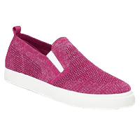 Metallic Pique-Knit Slip-Ons for Girls
