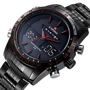 NaviForce 9024 Men`s Sports Metal Wrist Watch