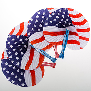 Stars & Stripes Paper Fans from Century Novelty