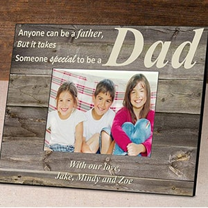 Personalized Rustic Father`s Day Frames