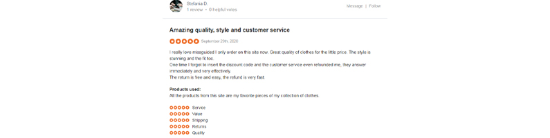 Does Missguided provide high quality products?