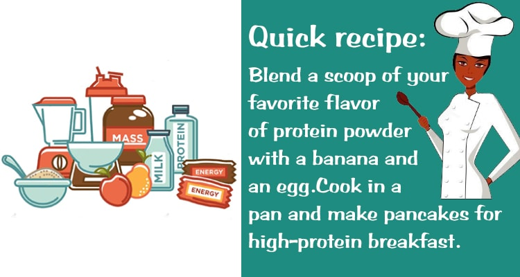quick recipe for making protein powder
