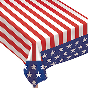 Stars & Stripes Table Cloth at Shindigz