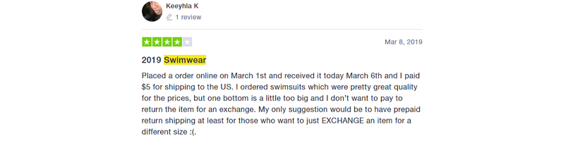 Misguided swimwear review