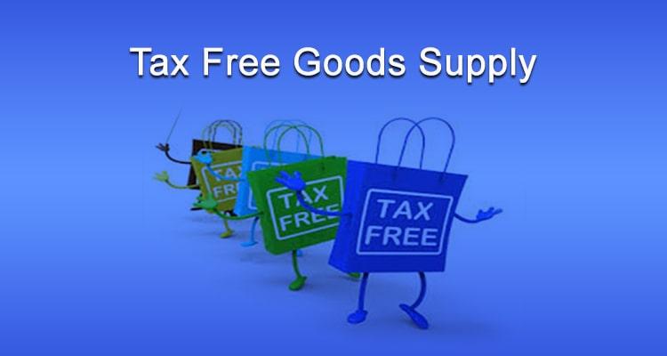 tax free goods