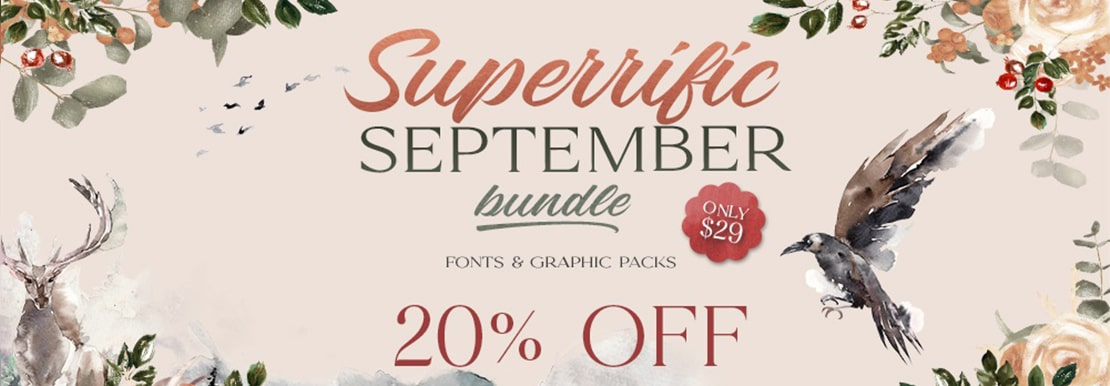 20% Off On Fonts & Graphic Packs At TheHungryJPEG