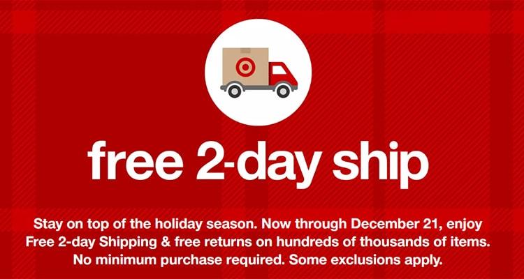 Target Free Shipping for Holiday Season