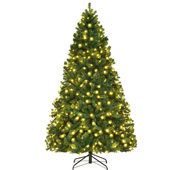 Costway 7Ft/7.5Ft/8Ft Pre-Lit PVC Christmas tree