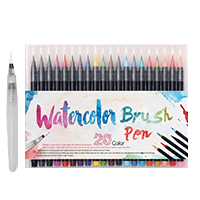 Watercolor Brush Pens - 20pcs