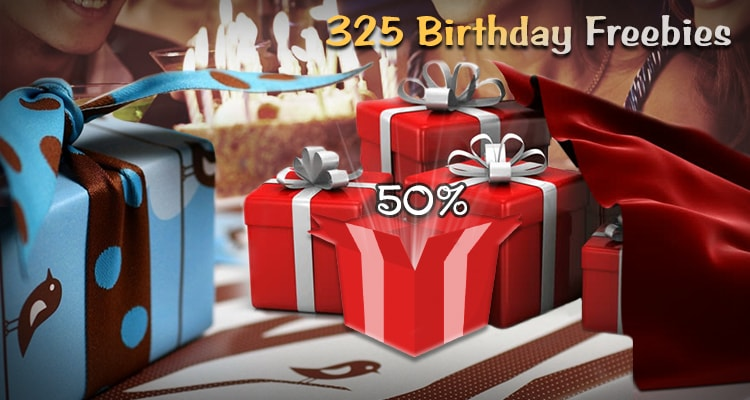 325 Birthday Freebies For A Birthday You Won`t Forget