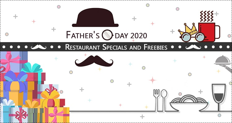 fathers day restaurant specials and freebies