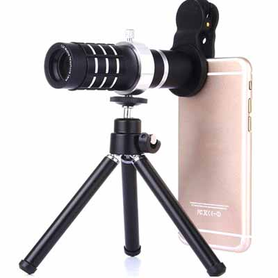 3 in 1 clip on cell phone telephoto lens kit deal pack