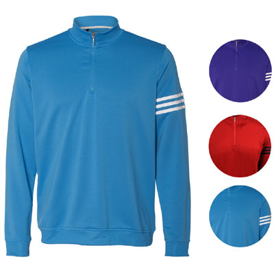 adidas mens climalite 3 stripe french terry 1 4 zip pullover