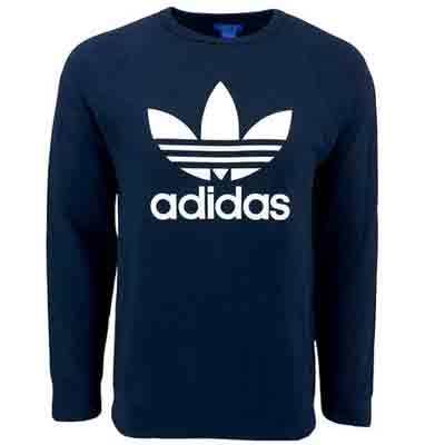 adidas mens originals trefoil crew sweatshirt deal pack