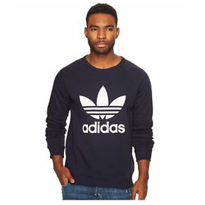 adidas mens originals trefoil crew sweatshirt