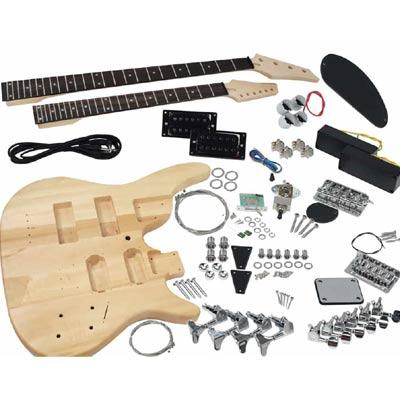diy electric guitar kit - double neck