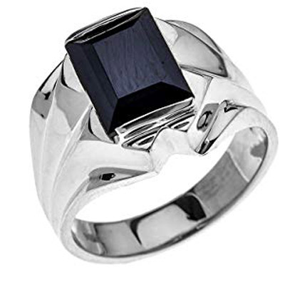 men black onyx bold ring