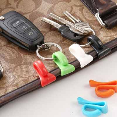 2 pack mini bag clip accessory keychain holder