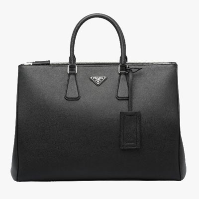prada men saffiano leather tote black