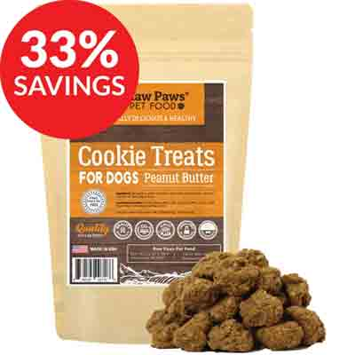 raw paws gourmet peanut butter cookies deal pack