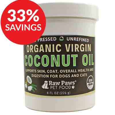 raw paws organic virgin coconut oil supplement deal pack