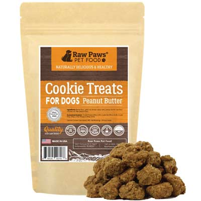 raw paws gourmet peanut butter cookies
