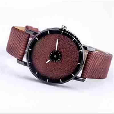 womens leather strap quartz watch deal pack