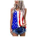 american flag off shoulder blouse