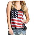 american flag o neck tank